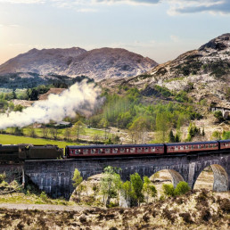 Train in Scotland photo