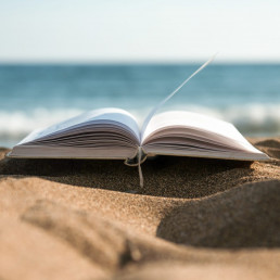 Book on the sand photo