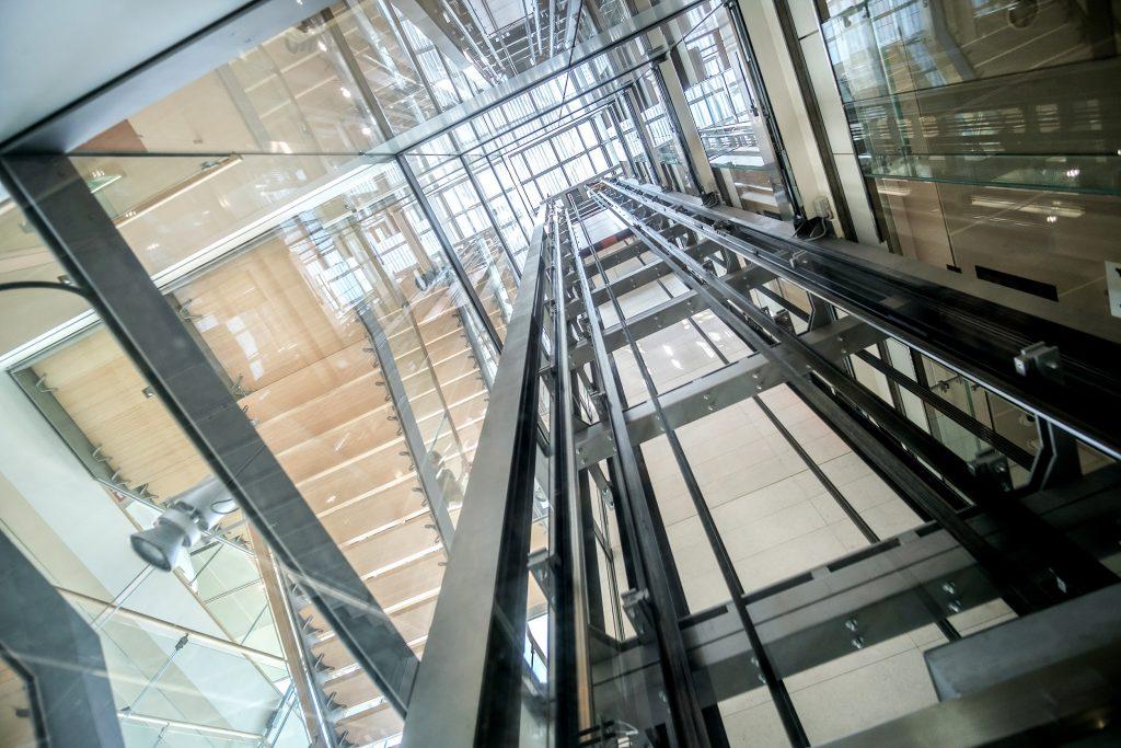 Glass elevator photo